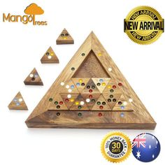 The Bermude Triangle - Wooden 3D Logic Wood Brain Teaser Puzzle