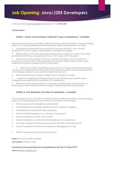 click here to download this java senior developer resume template