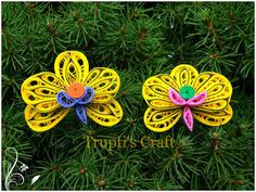 Day 8 of 100 days of Paper Quilling Challenge. Today's topic is 'Orchid Flowers'. Here is my try of making these flowers. Orchid Flowers, Orchids, Paper Quilling Flowers, 100th Day, Arts And Crafts, Challenges, Christmas Ornaments, Holiday Decor, How To Make