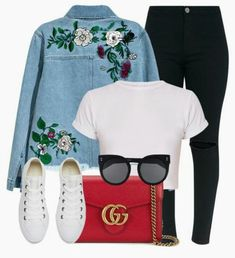 Designer Clothes, Shoes & Bags for Women Teenager Outfits, Outfits For Teens, Trendy Outfits, Fall Outfits, Summer Outfits, Cute Outfits, Teenager Fashion Trends, Teen Fashion, Korean Fashion