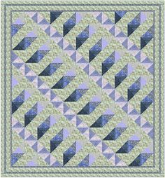 Quilt Block Pattern - Great Western Railway - Uses a single block design - Multiple Fabrics to give it dimension - Color illustrations