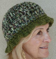 Duck Dynasty Hat Green Crochet Original by hatsbyanne1942 on Etsy, $27.00