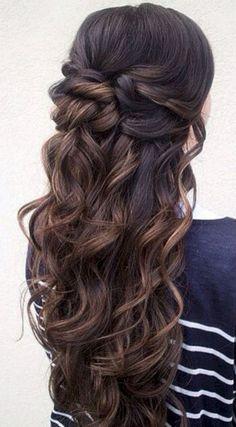Stunning half up half down wedding hairstyles ideas no 192 #weddinghairstyles