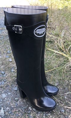 Wellies Rain Boots, Wellington Boot, Hunter Boots, Rubber Rain Boots, Women's Fashion, Collection, Shoes, Tall Boots, High Boots