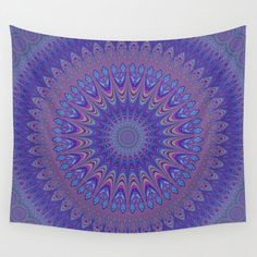 SOLD in my shop: Purple Mandala Wall Tapestry by David Zydd Living Room Decor, Bedroom Decor, Wall Decor, Wall Art, Bedroom Ideas, Mandala Tapestry, Wall Tapestry, Purple Walls, Tapestry Design