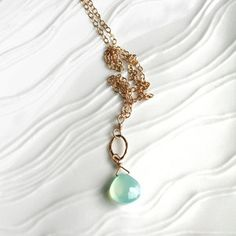 Laura Stark Teardrop Necklace, $34, now featured on Fab.