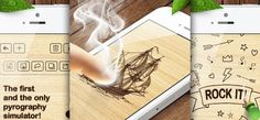 Pyrography - Give free rein to your creative vein and make great and unique art works – completely without the need of expensive tools or wood. Pyrography, Ios App, Unique Art, It Works, Apps, Tools, Electronics, Creative, How To Make