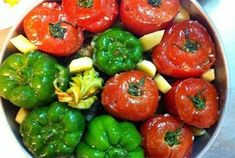 Fay's Homemade Recipes: Stuffed vegetables in the oven W/ BEEF