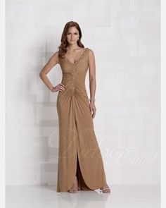Elegant Floor-length Pleats Chiffon Mother of the Brides Dress