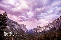 "Digital photography - ""Pink Yosemite"" by ShinavaPhotography on Etsy"