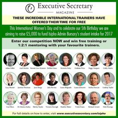 Have you bought your tickets yet? You could win an hour of incredible mentoring with one of your favourite trainers.