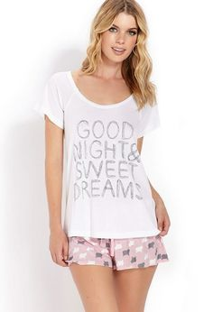 2a1f0a1836b1d Jersey Knit Draw String Pajama Set Good Night Sleep Tight Cute Pajama Sets
