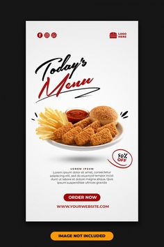 Social media post instagram story templa... | Premium Psd #Freepik #psd Food Web Design, Food Poster Design, Graphic Design Flyer, Flyer Design, Interactive Web Design, Real Estate Banner, Building Stairs, Restaurant Flyer, Instagram Banner