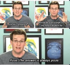 John Green in a vlogbros video