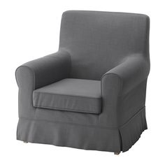 IKEA - JENNYLUND, Chair cover, Nordvalla dark gray, , The cover is easy to keep clean as it is removable and can be machine washed.A range of coordinated covers makes it easy for you to give your furniture a new look.