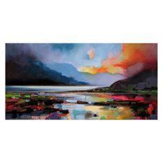hobbitholeco Hills around the Lake Wall Art by Scott Naismith - SCT040ONL