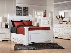 White furniture bedroom