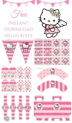 aca93fdd8a6d Free Pink Hello Kitty Party Printable