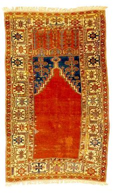 Antique Innice Ladik Prayer Rug 18th century Sotheby's Lot 2