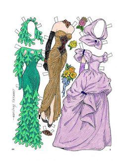 Gowns for a Holiday Paper Doll by Charles Ventura - Maria Varga - Picasa-Webalben