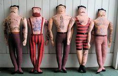 adorable little tattooed men dolls