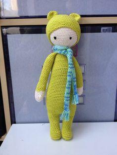 BINA the bear made by Lilian W. / crochet pattern by lalylala