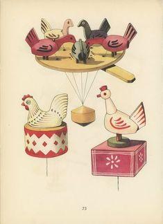 czech folk toys - illustrator emanuel hercik