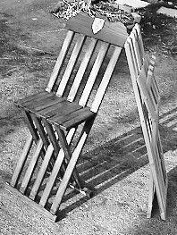 16th c German folding chair