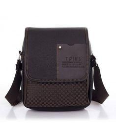 Casual Men Shoulder Bag Male Business One Shoulder Cross-body Bag - Brown -  CJ12O6QYT4N c9aeec928a2c0