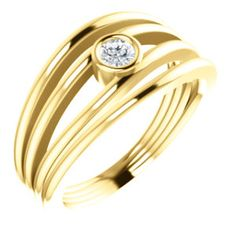 14kt Yellow 1/8 CTW Diamond Ring #mothersday Locate a Jeweler Here: http://www.stuller.com/locateajeweler/