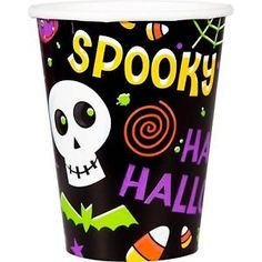 50 Spooktacular Skull Pumpkin Halloween Party 9oz Beverage Cups ** Continue to the product at the image link.
