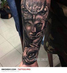 Tattoo by Samuel Sancho Back Hip Tattoos, Tribal Back Tattoos, Forarm Tattoos, Wolf Tattoos, Animal Tattoos, Dream Tattoos, Sexy Tattoos, Girl Tattoos, Tribal Scorpion Tattoo