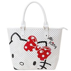 Hello Kitty Perforated leather tote bag white     See this great  product.Note It is affiliate link to Amazon.  funny f0cf7086a2c89