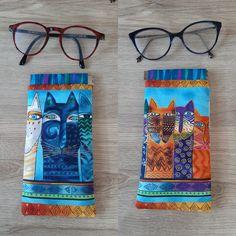 Duo d'étuis à lunettes Mirettes colorées cousues par Chantal - Patron Sacôtin