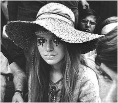 60's hippie at concert