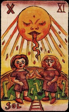 the sun (tarot card) by alejandro xul solar