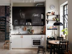 The kitchen that invites creativity | IKEA Indonesia One Wall Kitchen, Wooden Kitchen, Kitchen Dining, Kitchen Cabinets, Kitchen Modern, Room Kitchen, Design Ikea, Ikea Kitchen Design, Small White Kitchens