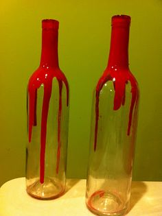 Vampire's Bloody Wine Bottles