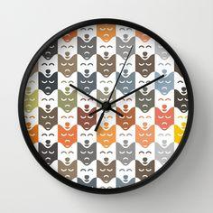 #dogs #pattern #husky #animal #pet #graphic #dog #fashion #style #wallclock