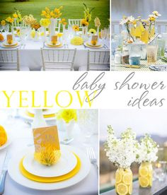 Yellow-Grey-Black-Baby-Shower-Ideas