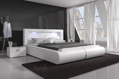 Tweepersoonsbed Cylano - Wit - 180x200 cm