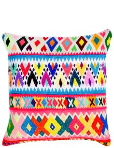 Peruvian Embroidered Pillow Cover from Leif.
