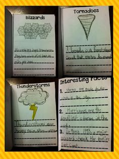 storm book  use w/Seymour Simon's Super Storms