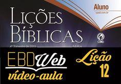 Vídeo-aula sobre a lição 12: Isaque, o Sorriso de Uma Promessa, apresentada pelo Ev. Luiz Henrique, no canal EBD na TV.