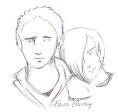 "This is Noah and Matty - a fantastic ""quick sketch"" (man, I'm jealous) by the uber-talented Raine O'Tierney!"