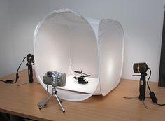 Mini photo studio: I wonder if I could make one out of a nylon laundry hamper... hmmm