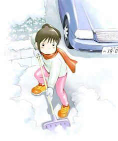 ok this is so adorable look at chihiro take off the snow hahahahahhhhhaahaaha I LOVE THE MOVIE!
