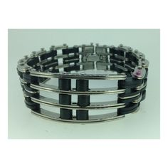 Fabulous Unisex Stainless Steel and Rubber Bracelet at just $9.99