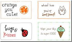 Lunch Box Notes - So cute!  Link to lots of printables!
