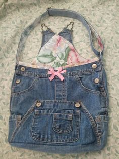 Recycled Denim Bag -- looks like jeans and overall bib combined